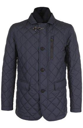 Стеганая куртка на молнии с отложным воротником | Фото №1