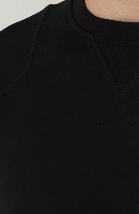 Однотонный хлопковый джемпер | Фото №5