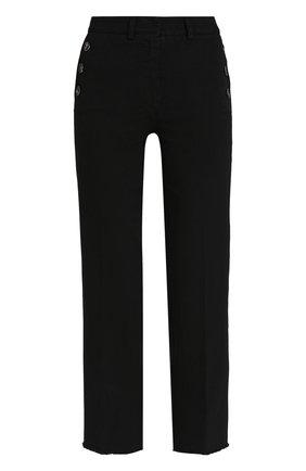 Укороченные джинсы прямого кроя Nude черные   Фото №1