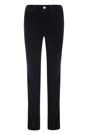 Бархатные джинсы прямого кроя Armani Jeans синие | Фото №1