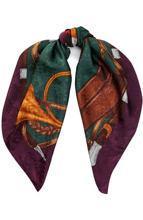Шелковый шарф с принтом   Фото №1
