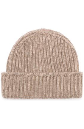 Кашемировая шапка фактурной вязки с отворотом | Фото №1