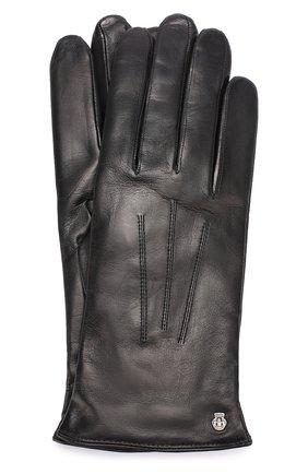Кожаные перчатки с подкладкой из смеси шерсти и кашемира | Фото №1