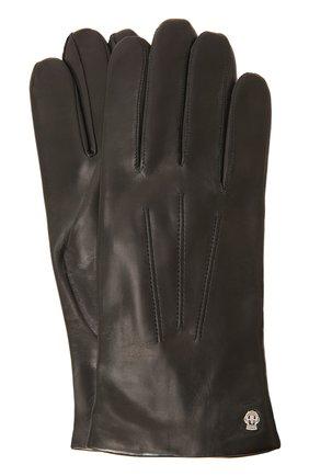 Кожаные перчатки с подкладкой из смеси кашемира и шерсти | Фото №1