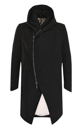Пальто из смеси шерсти и льна на молнии с капюшоном   Фото №1