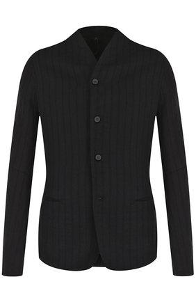 Однобортный пиджак из смеси шерсти и льна с хлопком   Фото №1