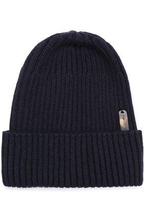 Кашемировая шапка фактурной вязки   Фото №1