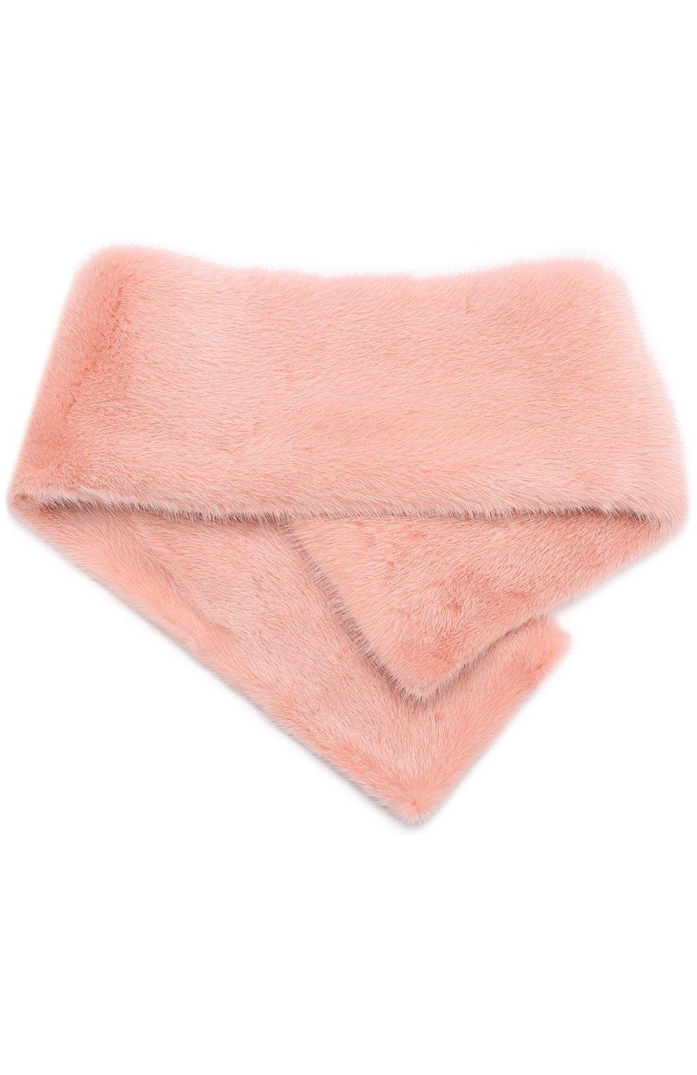 Воротник из меха норки Escada розовый | Фото №2