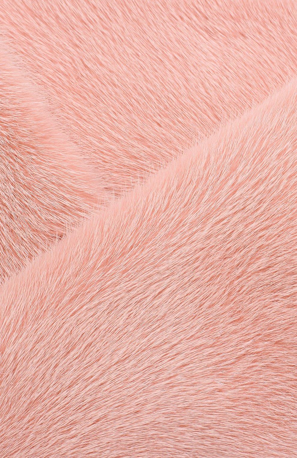 Воротник из меха норки Escada розовый | Фото №3