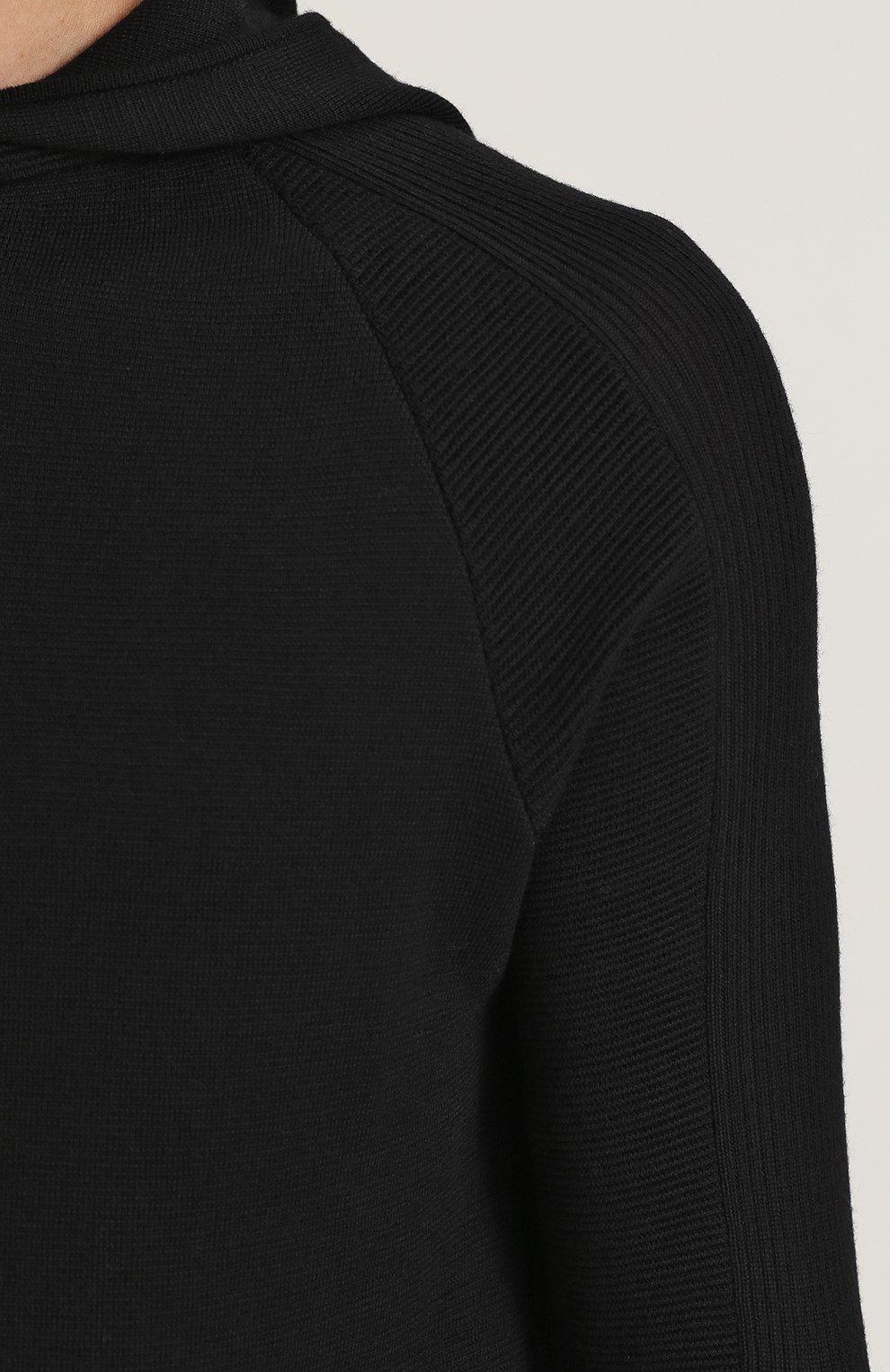 Шерстяное худи с удлиненными рукавами | Фото №5