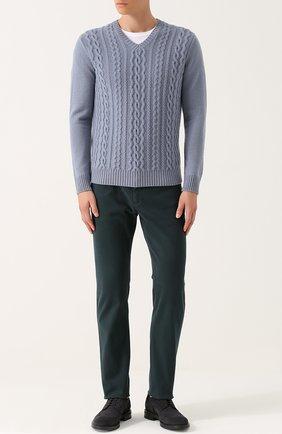 Кашемировый пуловер фактурной вязки | Фото №2