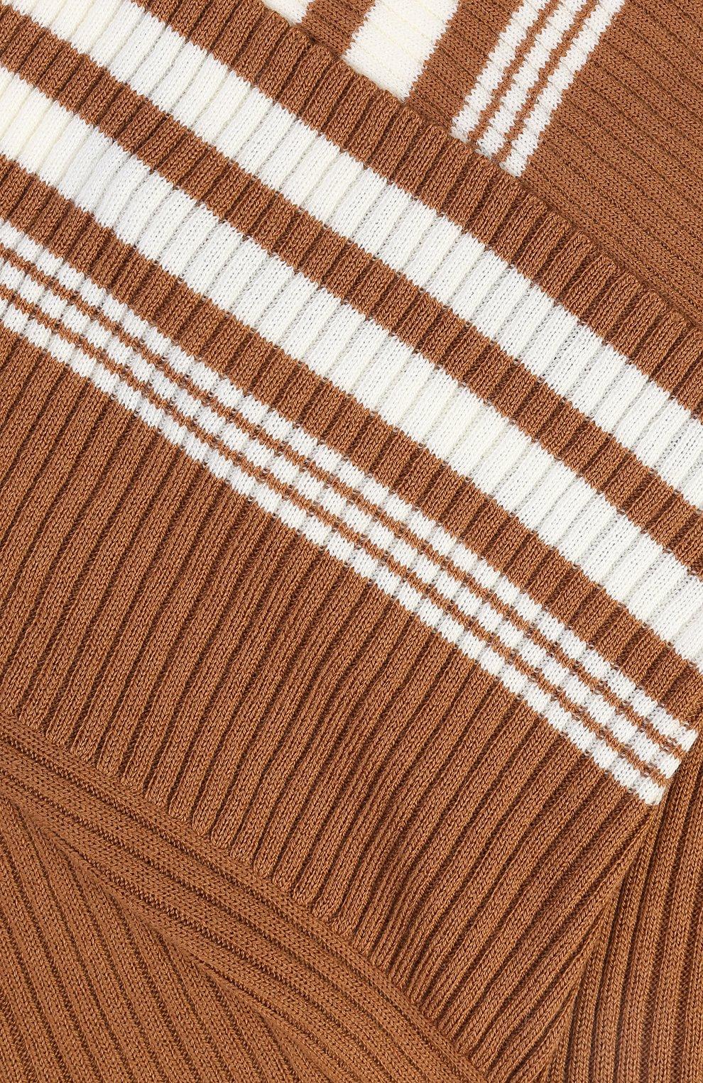 Юбка фактурной вязки с контрастной отделкой и асимметричным кроем | Фото №3
