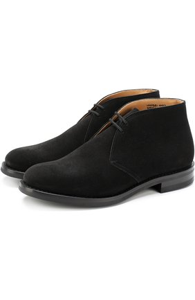 Замшевые ботинки на шнуровке Church's бежевые | Фото №1