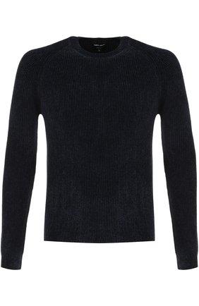 Джемпер фактурной вязки из смеси вискозы и шерсти | Фото №1
