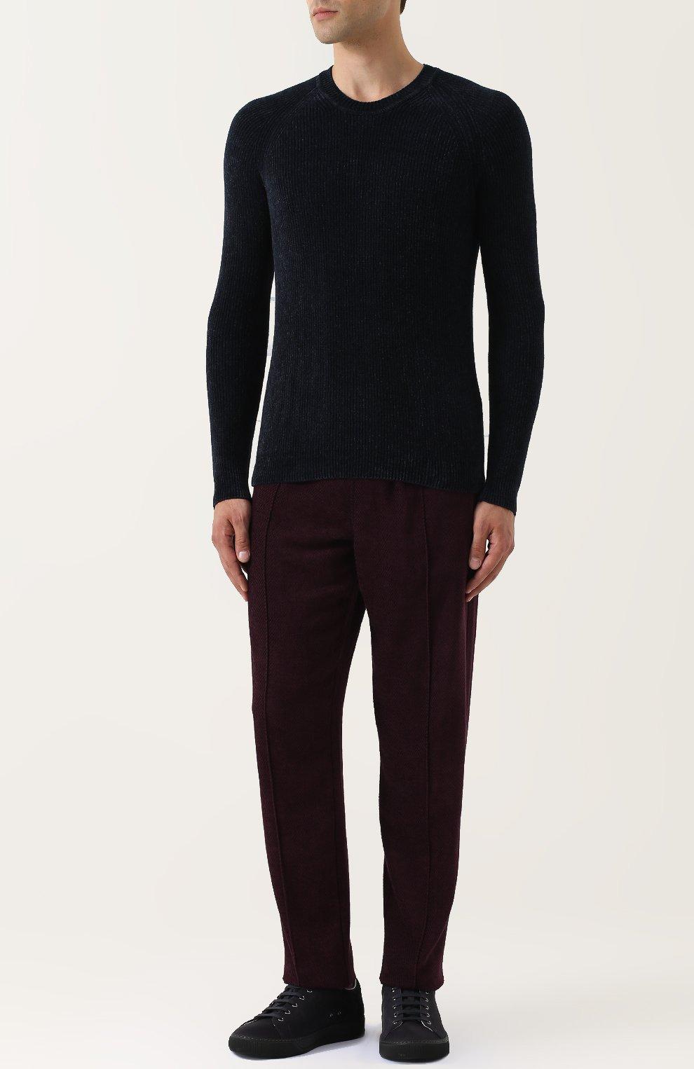 Джемпер фактурной вязки из смеси вискозы и шерсти | Фото №2