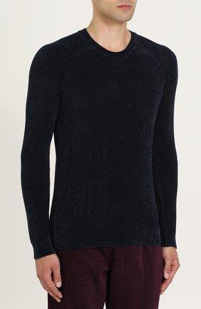 Джемпер фактурной вязки из смеси вискозы и шерсти | Фото №3