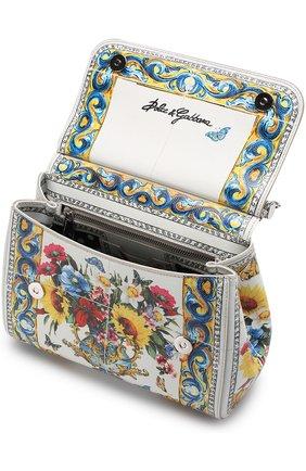 Сумка Sicily medium с принтом Dolce & Gabbana разноцветная цвета | Фото №4