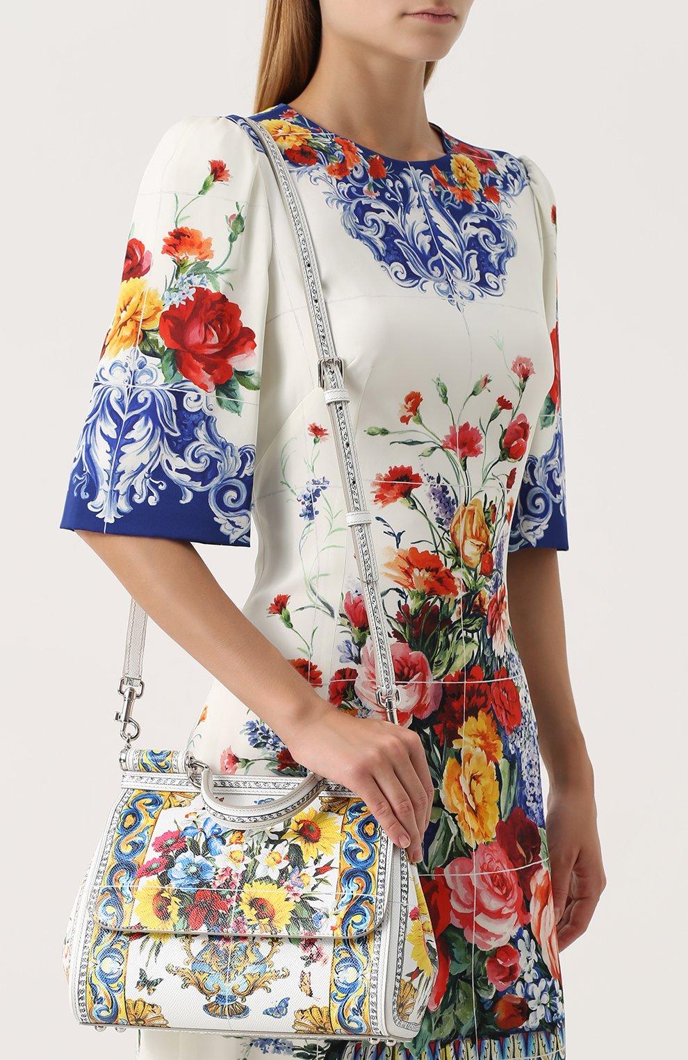 Сумка Sicily medium с принтом Dolce & Gabbana разноцветная цвета | Фото №5