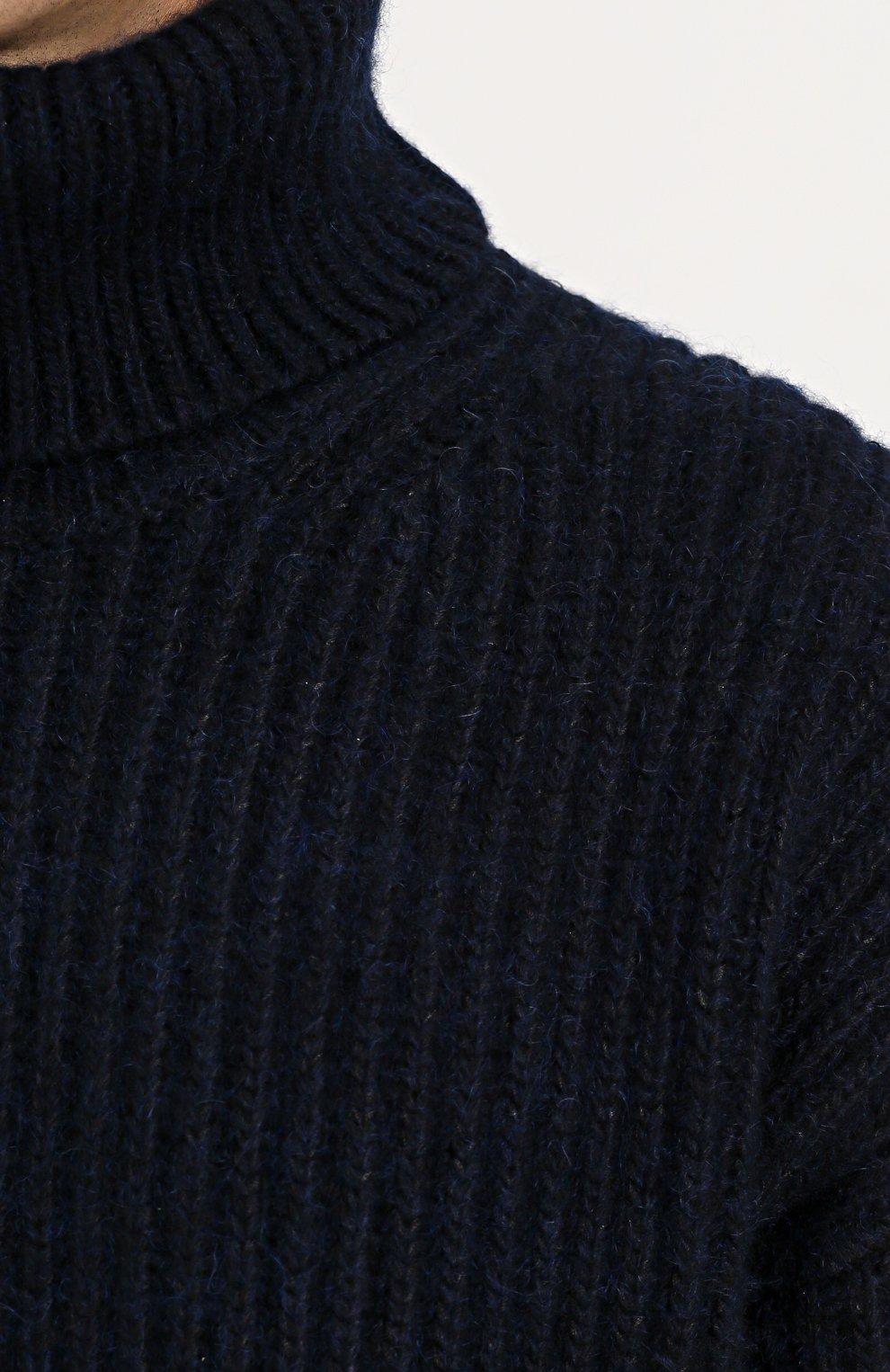 Свитер свободного кроя из смеси кашемира и шерсти   Фото №5