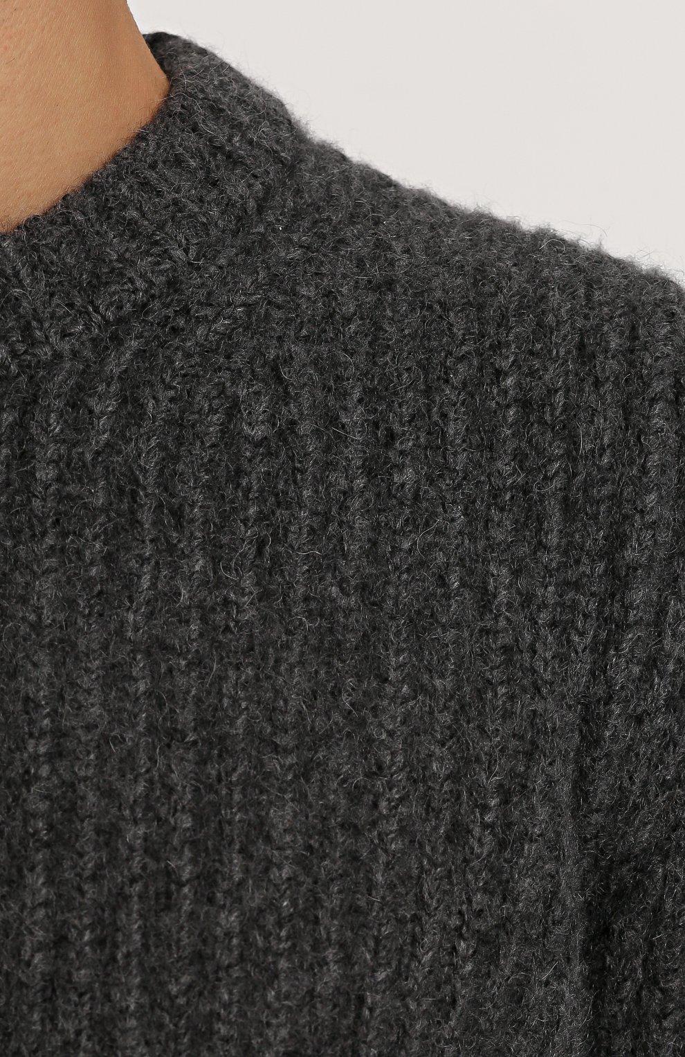 Свитер свободного кроя из смеси кашемира и шерсти | Фото №5