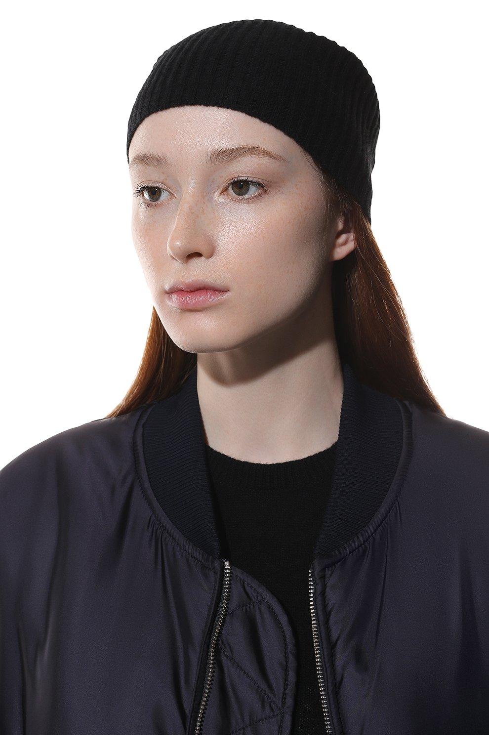 Мужская шапка из смеси шерсти и кашемира TEGIN черного цвета, арт. 1634   Фото 2