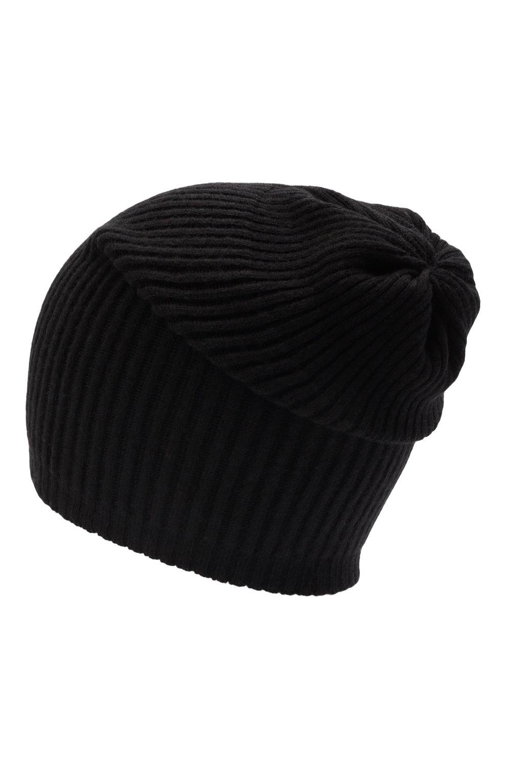 Мужская шапка из смеси шерсти и кашемира TEGIN черного цвета, арт. 1634   Фото 3