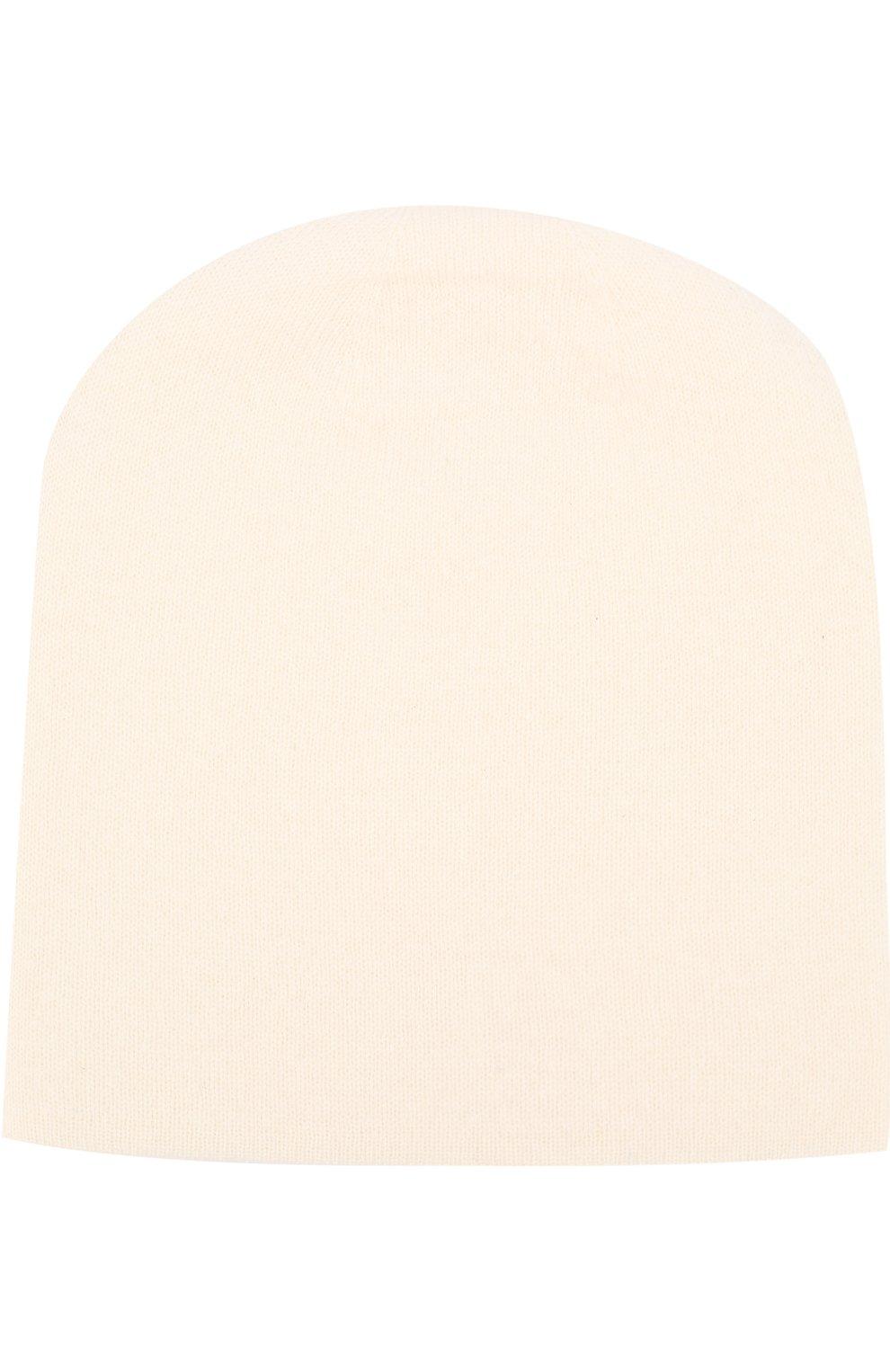 Женская кашемировая шапка TEGIN белого цвета, арт. 1104 | Фото 1