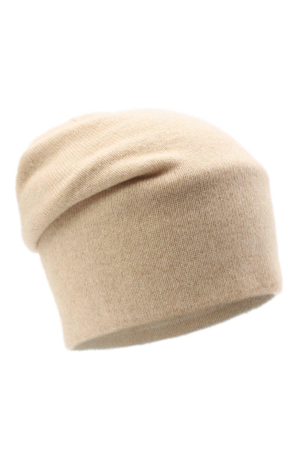 Женская кашемировая шапка TEGIN светло-бежевого цвета, арт. 1104 | Фото 1