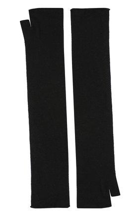 Женские удлиненные кашемировые митенки TEGIN черного цвета, арт. 2434 | Фото 2