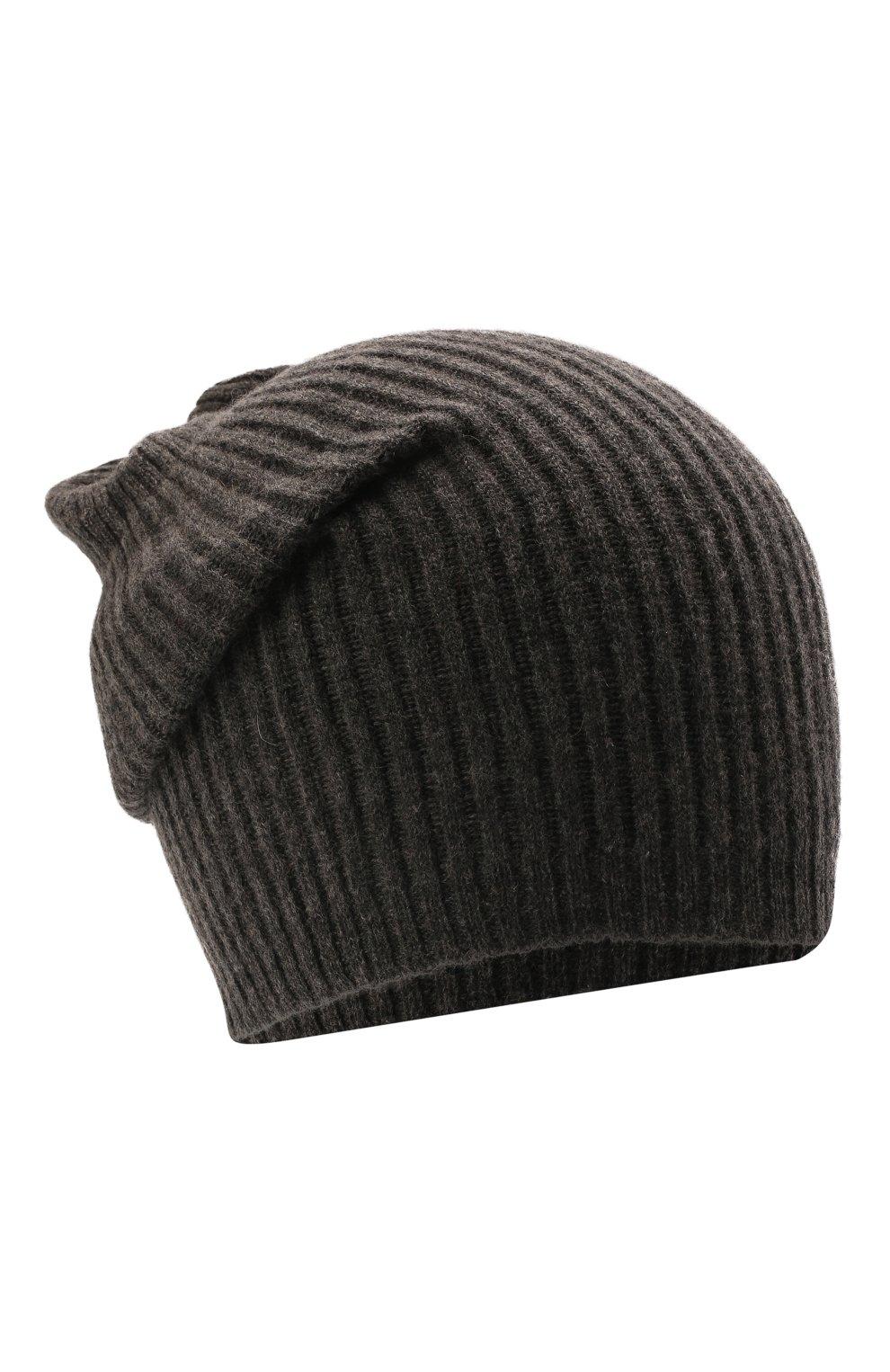 Мужская шапка из смеси шерсти и кашемира TEGIN темно-серого цвета, арт. 1634 | Фото 1