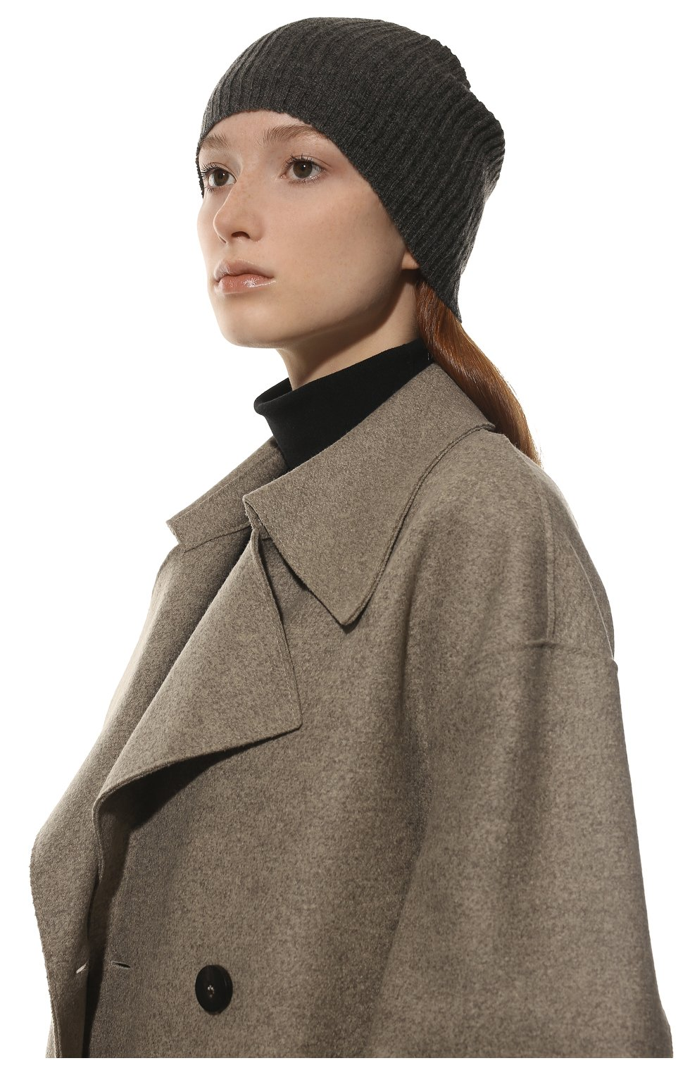 Мужская шапка из смеси шерсти и кашемира TEGIN темно-серого цвета, арт. 1634 | Фото 2