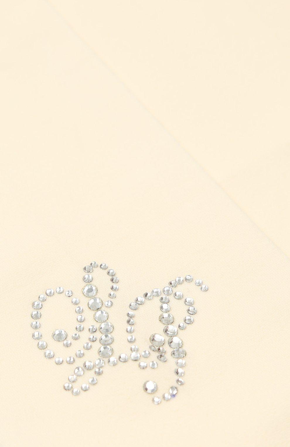 Детские колготки со стразами LA PERLA кремвого цвета, арт. 47179/4-6 | Фото 2