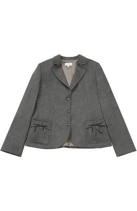 Однобортный пиджак с бантами | Фото №1