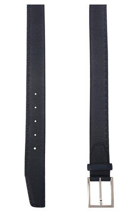 Мужской кожаный ремень KITON темно-синего цвета, арт. USC18PN00924 | Фото 2