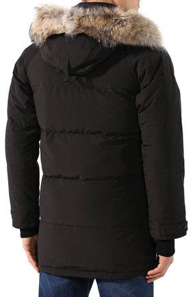 Мужская пуховик emory с меховой отделкой CANADA GOOSE черного цвета, арт. 2580M | Фото 4
