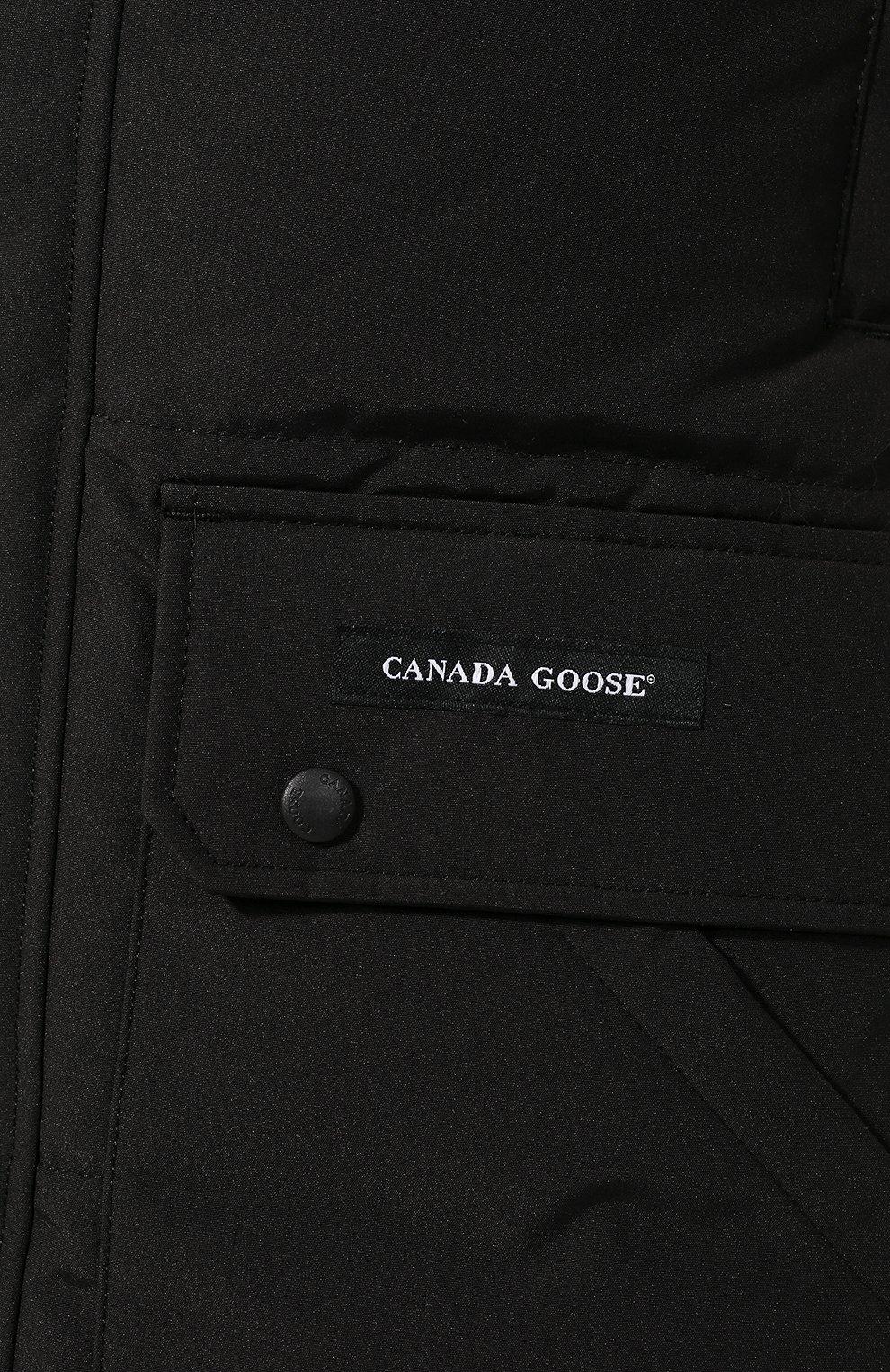 Мужская пуховик emory с меховой отделкой CANADA GOOSE черного цвета, арт. 2580M | Фото 5