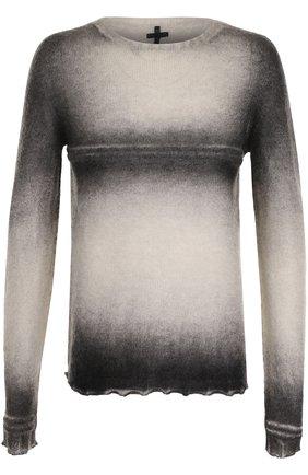 Удлиненный шерстяной джемпер  MD 75 светло-серый | Фото №1