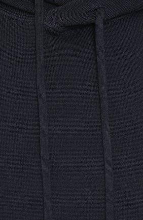 Шерстяное однотонное худи | Фото №5