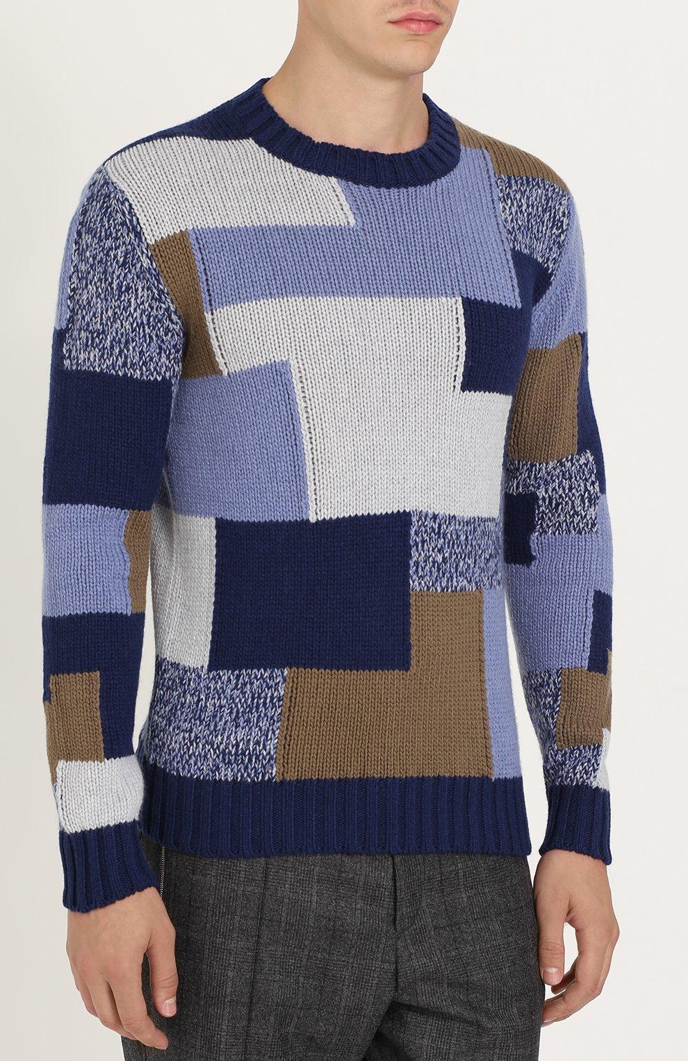 Кашемировый свитер фактурной вязки | Фото №3