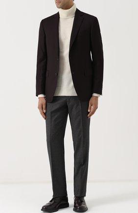 Шерстяной однобортный пиджак Pal Zileri бордовый   Фото №1