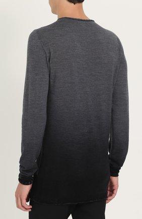 Удлиненный шерстяной джемпер с эффектом деграде | Фото №4