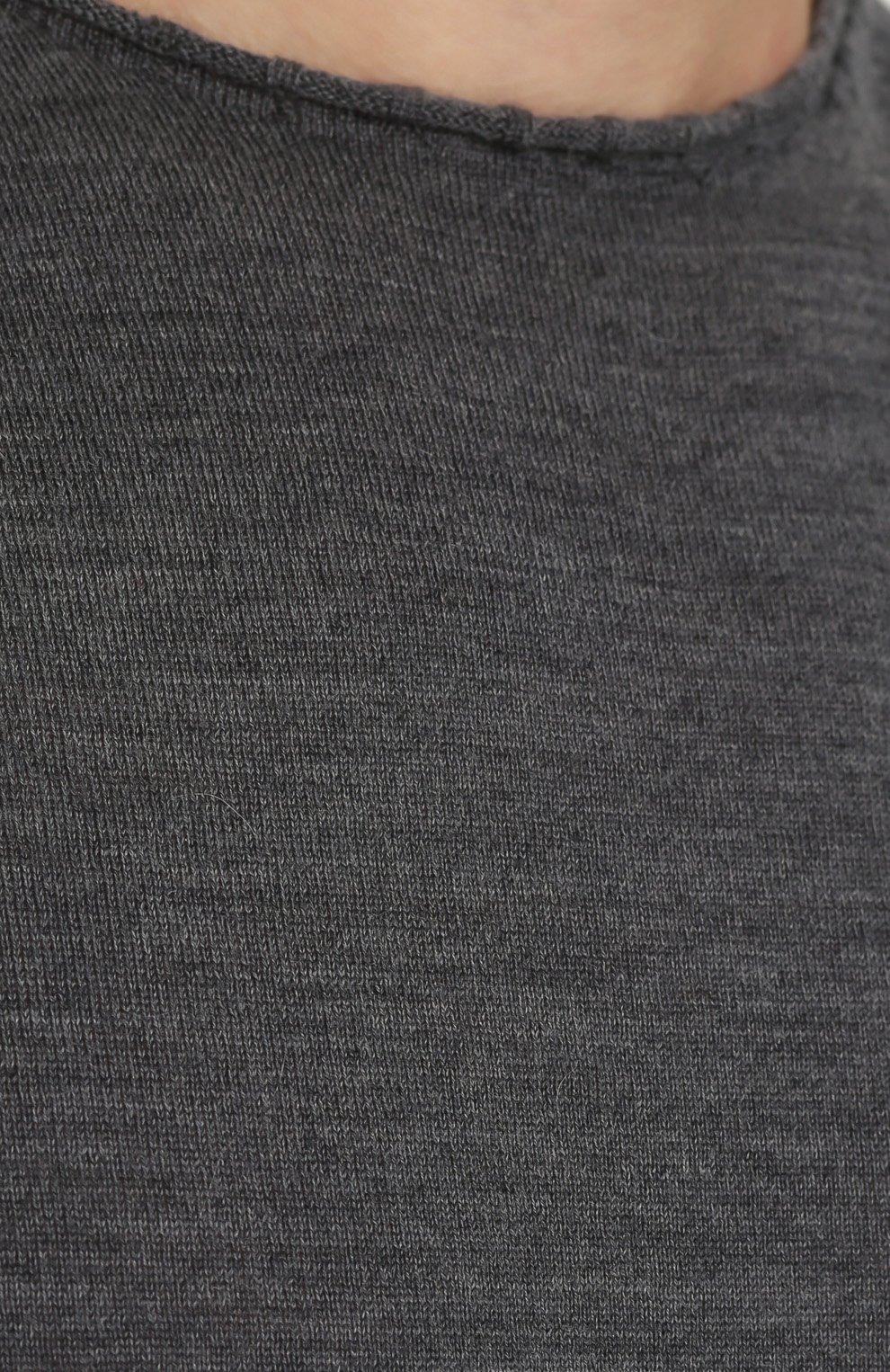Удлиненный шерстяной джемпер с эффектом деграде | Фото №5