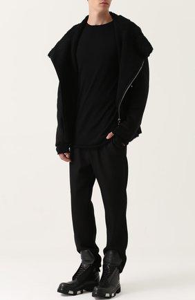 Удлиненный шерстяной джемпер  | Фото №2