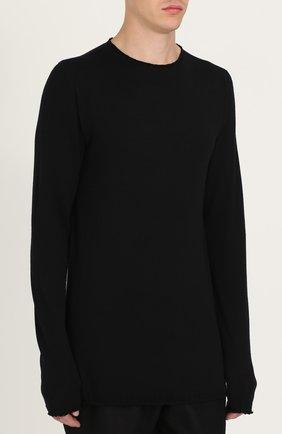 Удлиненный шерстяной джемпер  | Фото №3