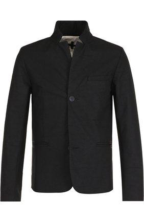 Однобортный пиджак с воротником-стойкой | Фото №1