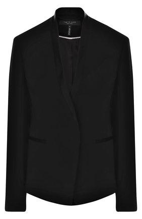Приталенный жакет с воротником-стойкой Rag&Bone черный | Фото №1