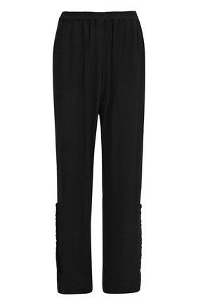Расклешенные брюки с эластичным поясом Raquel Allegra черные | Фото №1
