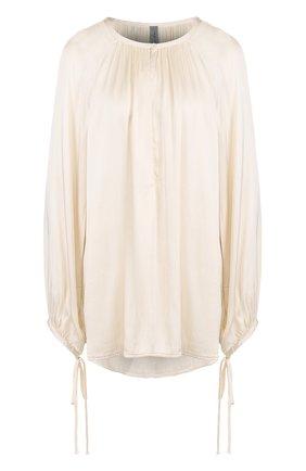 Блуза свободного кроя с круглым вырезом | Фото №1