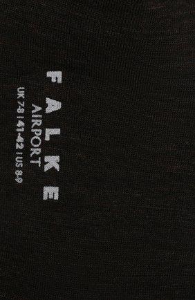 Мужские носки airport из смеси шерсти и хлопка FALKE коричневого цвета, арт. 14435 | Фото 2