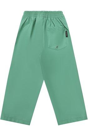 Детские спортивные брюки свободного кроя с эластичным поясом GOSOAKY светло-зеленого цвета, арт. 172.101.104   Фото 2